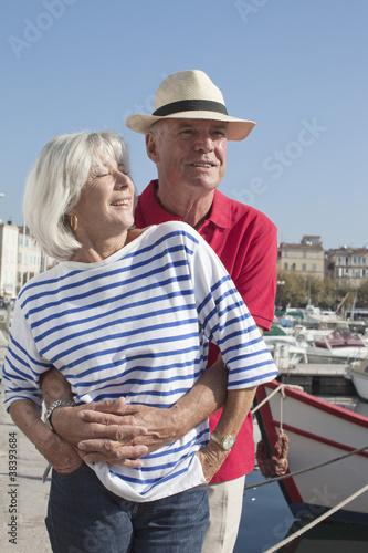 sexy senior couple on vacation