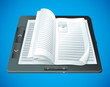 electronic book concept - vector illustration
