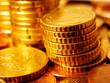Column of Euro Coins. Finance concept.