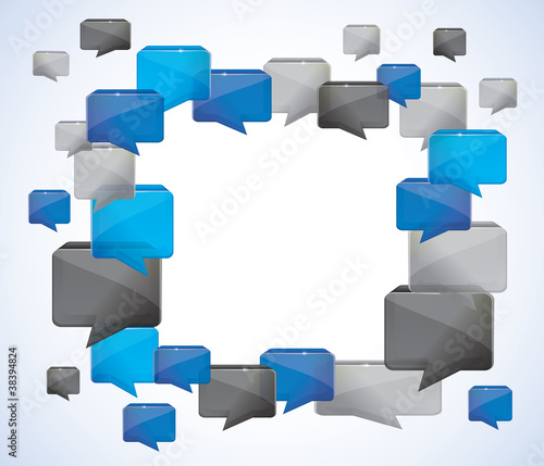 social media background -  vector illustration