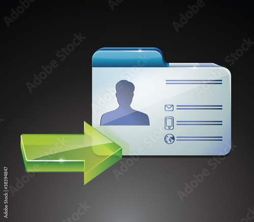 glossy indentivication card - vector