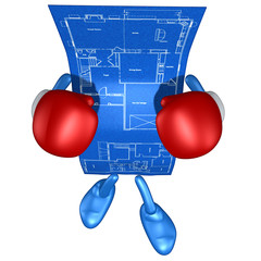 Home Construction Blueprint Boxing