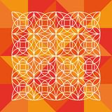 abstraktní design na geometrické pozadí