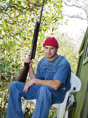 Country Man with a Shotgun