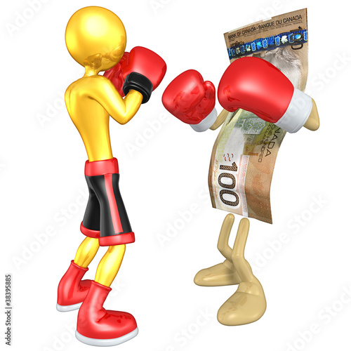 Gold Guy Boxer Versus Money