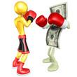 Gold Guy Boxer Versus Money