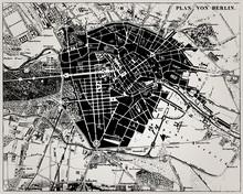 Historische Karte von Berlin, Deutschland.
