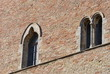 windows of the podestà building, Ripatransone, Italy