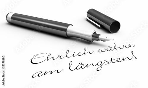 Ehrlich währt am längsten - Stift Konzept