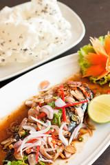 Thai style spicy saba