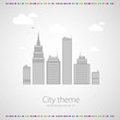 Abstract background. City theme. Vector