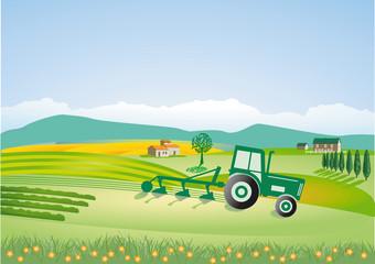 Landwirtschaft mit Traktor