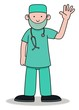 Surgeon Waving