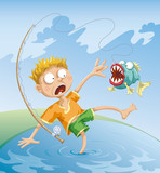 Horrible Fishing Accident