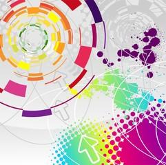 Abstract illustration circular