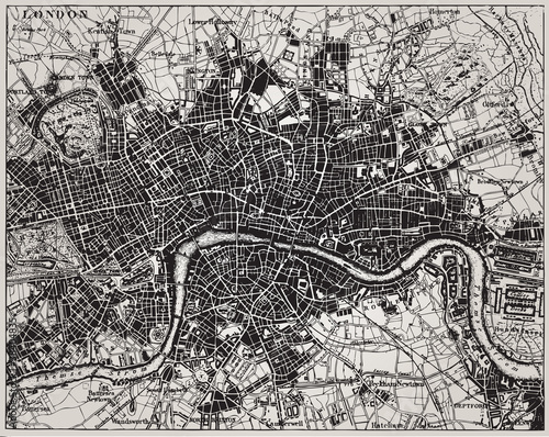 Historical map of London, England. - 38404835