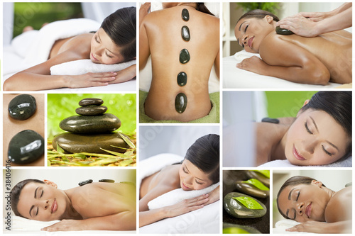 Montage of Luxury Ethnic Female Spa Lifestyle