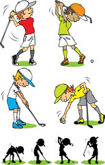 Boy golf character
