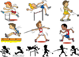 Boy character playing Olympic games