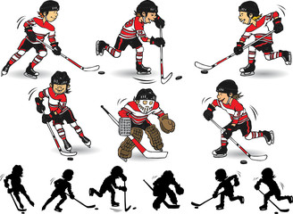 Boy hockey character