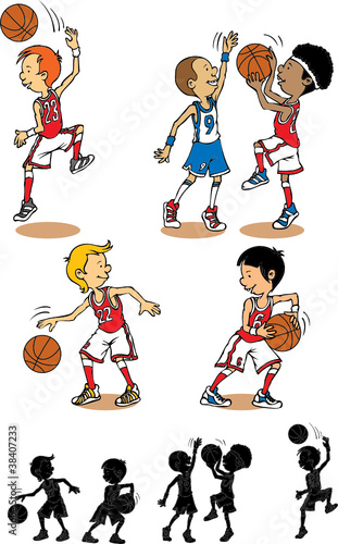 Boy basketball character