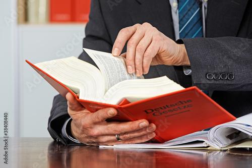 Leinwandbild Motiv lawyer at work