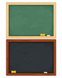 Vector blackboards on white background