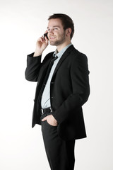 A young businessman phoned