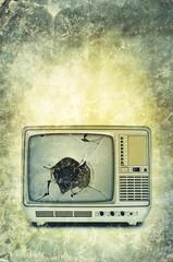broken television print