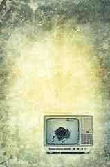 broken tv backdrop