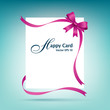 Happy white paper card vector illustration