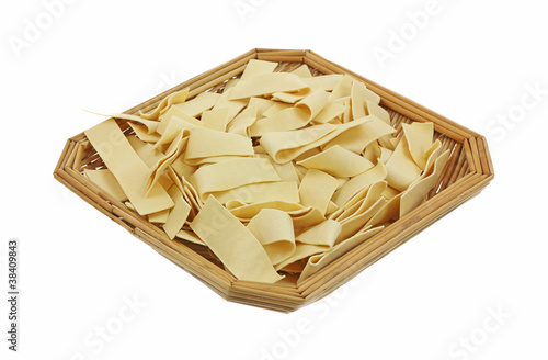 Basket of Wide Egg Noodles