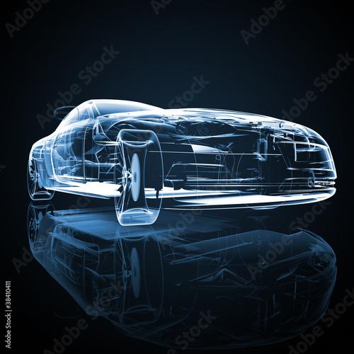 Auto Konstruktionszeichnung