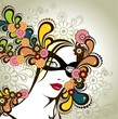 Masked woman floral