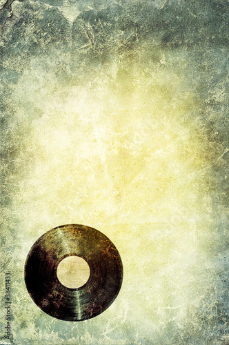grunge record background