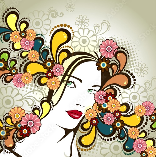 Women's hair flower