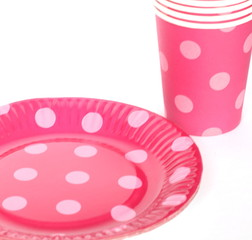 Cardboard cups and plates