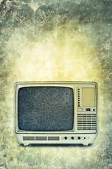 retro television print