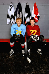 Teenage Hockey Players