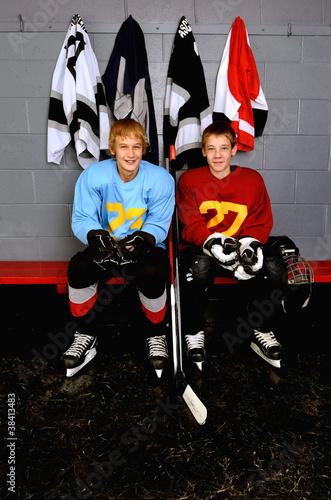 Teenage Hockey Players
