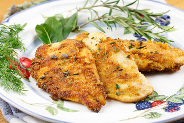 Marinated chicken with herbs