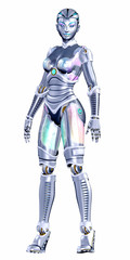 Female Robot Posing
