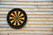 dart board on wall