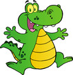 Happy Alligator Jumping