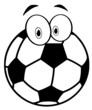 Outlined Cartoon Soccer Ball