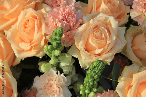 Soft pink roses and carnations