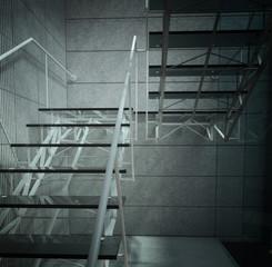 Modern glass stair / interior architecture