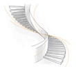 Sketch of a spiral staircase. - 38421469