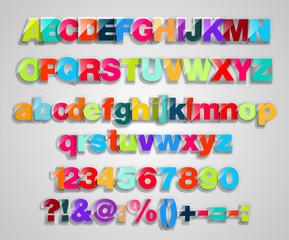 Set Of Colorful, Transparent Letters
