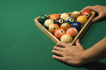 Pool (billiard) game